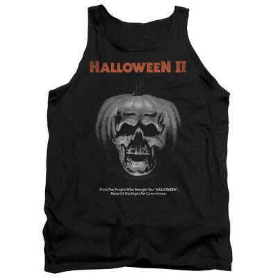 Halloween II Horror Slasher Movie Jack O'Lantern Poster Adult Tank T-Shirt