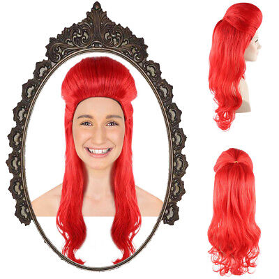 Red Long Curly Wave Wig for Cosplay Poison Ivy Halloween Party Costume HW-1385 - Curly Red Wig For Halloween