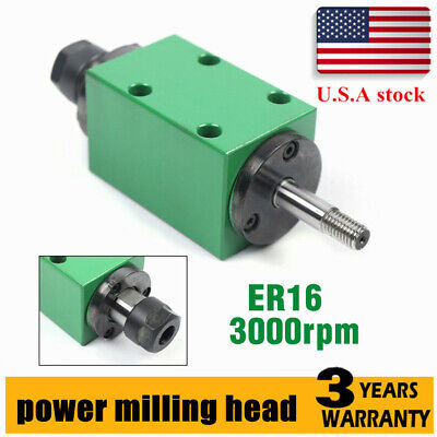 Er16 Power Head Spindle Unit Motor 3000rpm 4 Bearing Drilling Milling Us Stock