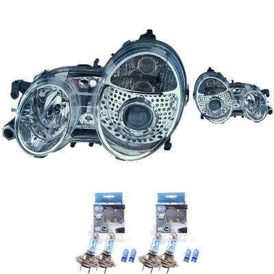 Scheinwerfer Set Mercedes CLK C208 A208 Bj. 97-03 klarglas/chrom H7+H7 1366158
