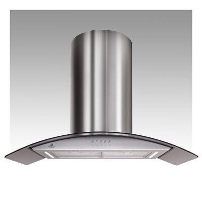 Premier Range 100cm Stainless Steel Island Cooker Hood LED Light H95.1S