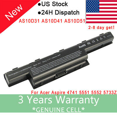 Battery for Acer Aspire 4551 4741 4741g AS10D31 AS10D41 AS10D51 AS10D61 Laptop F