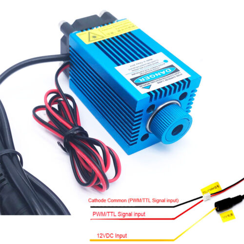 PWM/TTL Blue Laser Engraving Module/Focusable 450nm 4W High Power Etcher Laser