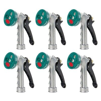 Gilmour 805842 Hose Nozzle Metal 7 Pattern Select Spray Watering Cleaning 6-Pack