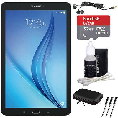 "Samsung Galaxy Tab E 9.6"" 16GB Tablet PC - Wi-Fi, Black w/ 32GB Bundle"