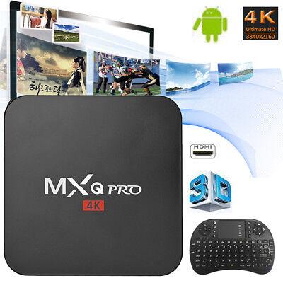 MXQ Pro Android 7.1 Quad Core Smart TV Box 3D 4K HD Set-top Box Media
