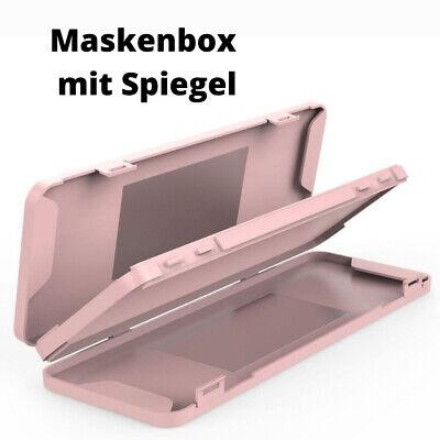 Tragbare Maskenbox Aufbewahrungsbox für Mundschutz in Pink