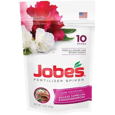 Jobe's Fertilizer Spikes for Azalea, Camellia and Rhododendron, 9-8-7 - Jobes Azalea