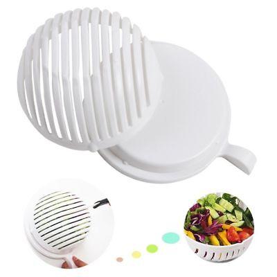 Easy 60 Second Salad Cutter Bowl Fresh Server Cutting Tool Slicer Fruit Washer