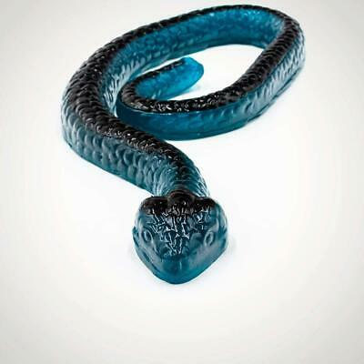 Giant Edible Jumbo Gummy Snake Blueberry Flavour 2ft Long Food Sweets Kids Party](Giant Gummy Snake)