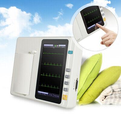 Fda Digital 12-lead 6-channel Electrocardiograph Ecgekg Machine Interpretation