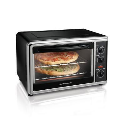 Black Countertop Oven With Convection & Rotisserie Extra-Large Capacity Cooker