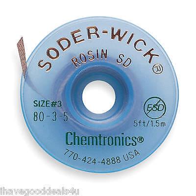 Chemtronics Soder-wick Desoldering Wick 80-3-5
