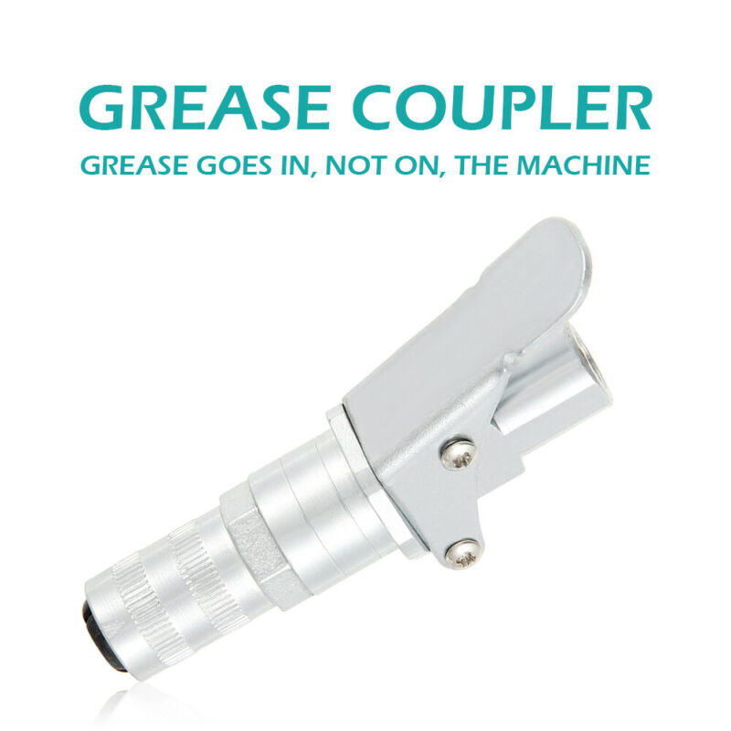 """1/8"""" Grease Gun Coupler Quick Release Lock On Coupling End W"""