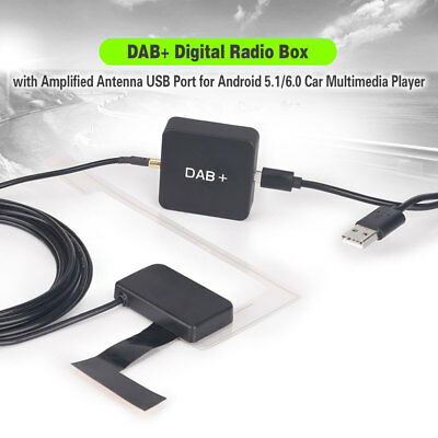 Digital DAB+Radio Aerial Tuner+Amplified Antenna For Android 5.1/6.0 Car Stereo