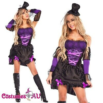 Ladies Gothic Halloween Vampire Twilight Devil Costume Fancy Dress Up - Devil Outfits Halloween