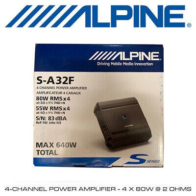 Alpine S-A32F - 4-Channel Power Amplifier - 4 x 80W @ 2...