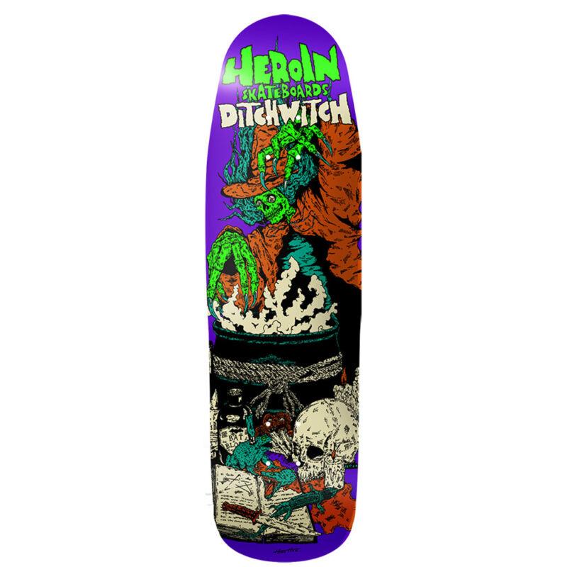 "Heroin Skateboard Deck Ditch Witch 4 9.38"" x 31.8"""