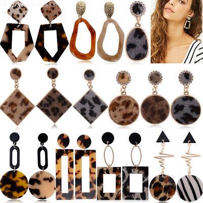 Frauen Boho Geometrische Baumeln Drop Hook Ohrstecker Große Ohrringe Modeschmuck