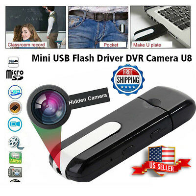 Hidden Mini Usb Flash Drive Pinhole Spy Camera Nanny Hd Dvr Video Recorder Cam