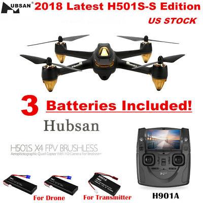 Hubsan X4 Pro H501S 5.8G FPV Brushles RC Quadcopter 1080P Headless Drone RTF USA