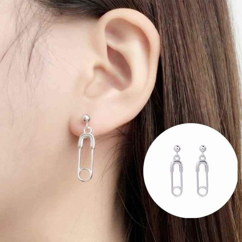 Alloy Paper Clip Pin Drop Earring Ear