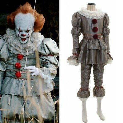 Stephen Kings Es Pennywise Cosplay Kostüm Scary Joker Anzug Clown Cos Suit