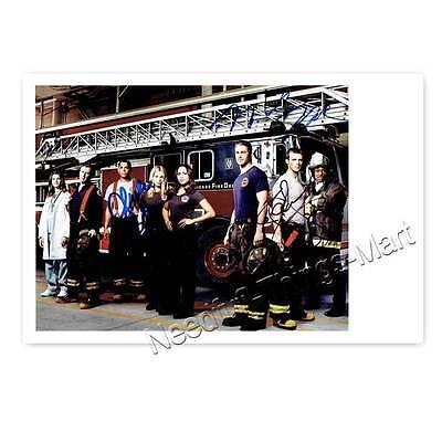 Chicago Fire Taylor Kinney, Jesse Spencer, M. Raymund & C. Barnett Autogramm 2 