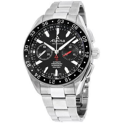 Alpina Alpiner Black Dial Stainless Steel Men's Watch AL860B5AQ6B
