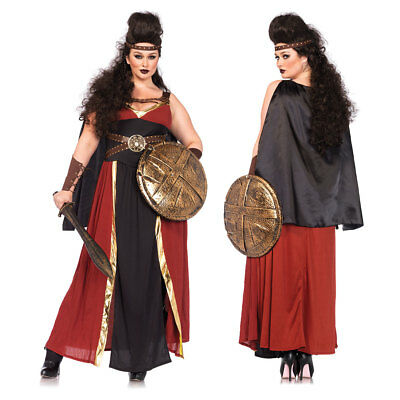 Womens Regal Warrior Plus Size Halloween Costume - Plus Size Renaissance Halloween Costumes