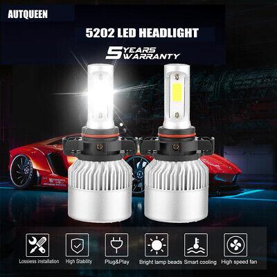 Pair 5202 9009 H16 2100W 315000LM CREE LED Fog Lights Headlight Kit Hi Lo 6000K