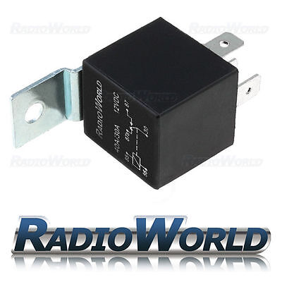 12V Automotive Changeover Relay with Bracket 40A 5-Pin Car Bike Van