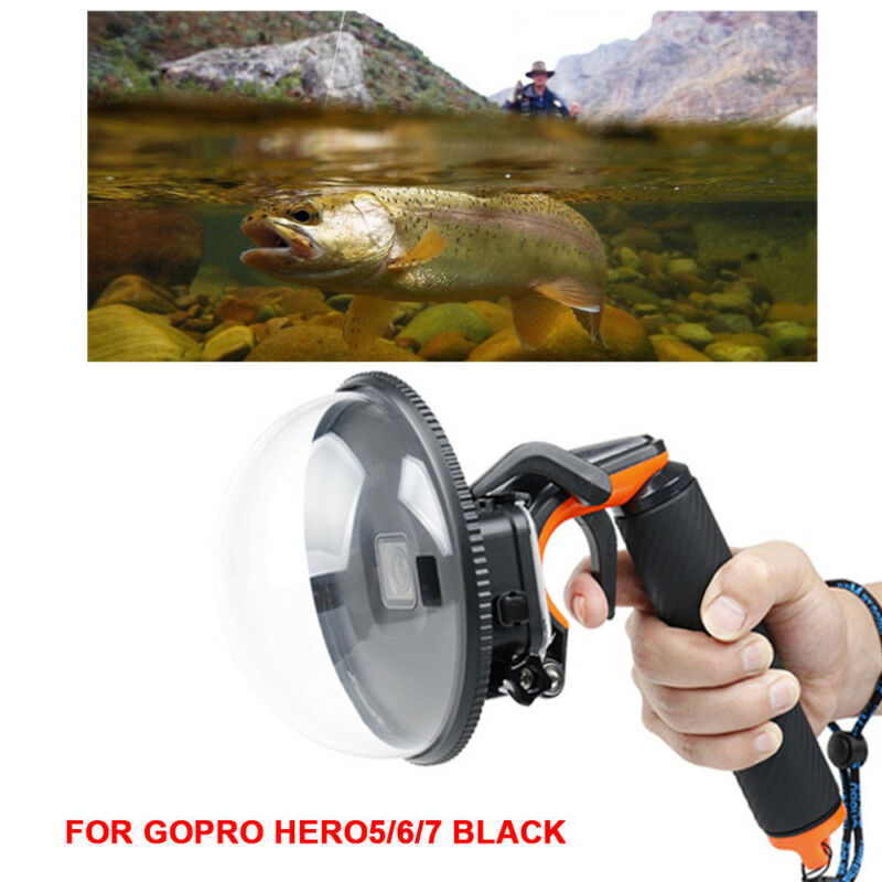 Waterproof Dome Port Camera Diving Lens Cover For GoPro Hero7 6 5 +Trigger Grip