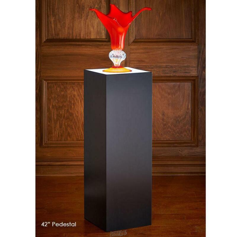 "The Museum Illuminated Black Pedestal 42"" high LED lights"