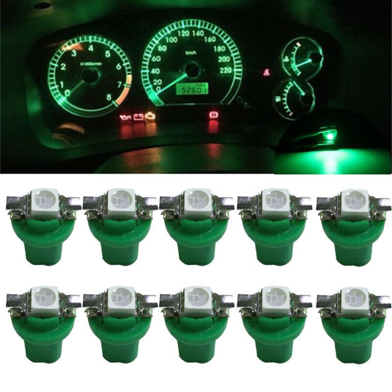 10X T5-B8.5D-5050smd LED SMD Lamp Car Gauge Speed Dash Bulb Dashboard Light 12V