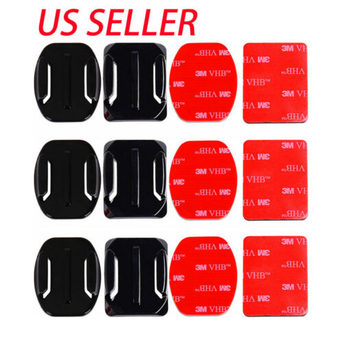 6Pcs Helmet Accessories Flat Curved Adhesive Mount for GoPro HERO 9 8 7 6 5 4 3