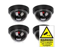 4x Fake Dummy CCTV Dome Security Camera Flashing LED Indoor Outdoor