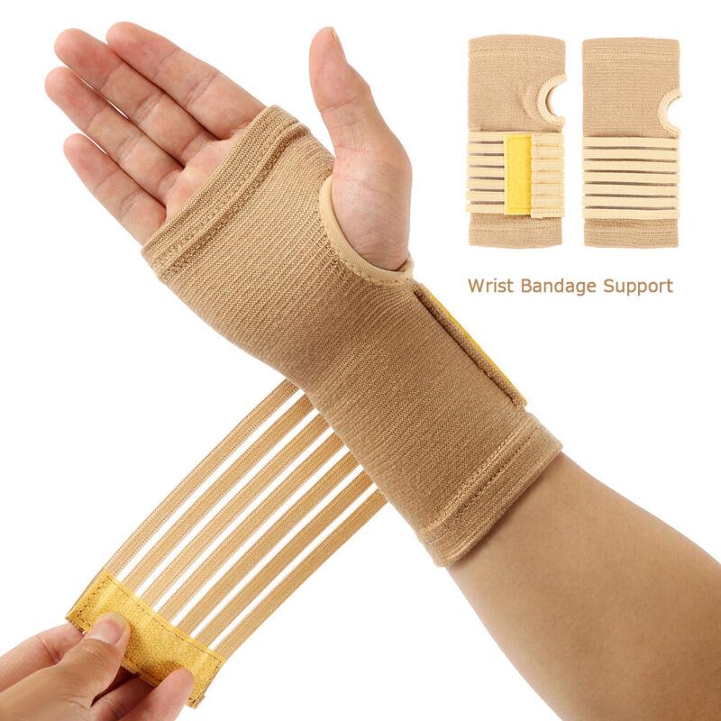 2 Packs Wrist Brace Adjustable Support Gym Weight Lifting Gu