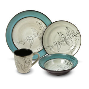 Gourmet Basics Song Bird 16 Piece Dinnerware Set