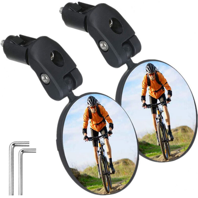 1/2pcs Mountain Road Bike Mirror Bicycle Cycling Rear View Safe Rearview NEW