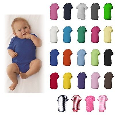 Rabbit Skins Baby Clothes - Rabbit Skins Baby Boys/Girls Plain Basic Creeper Bodysuit Snapsuit NB-24M - 4400