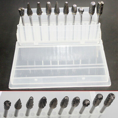 10x Tungsten Carbide Tungsten Steel Dental Lab Burs Polisher Tooth Drill 2.35mm