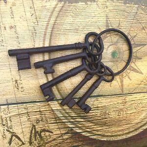 Schlüsselbund zur Antik Dekoration Schlüssel für altes Vorhänge- + Bügelschloss
