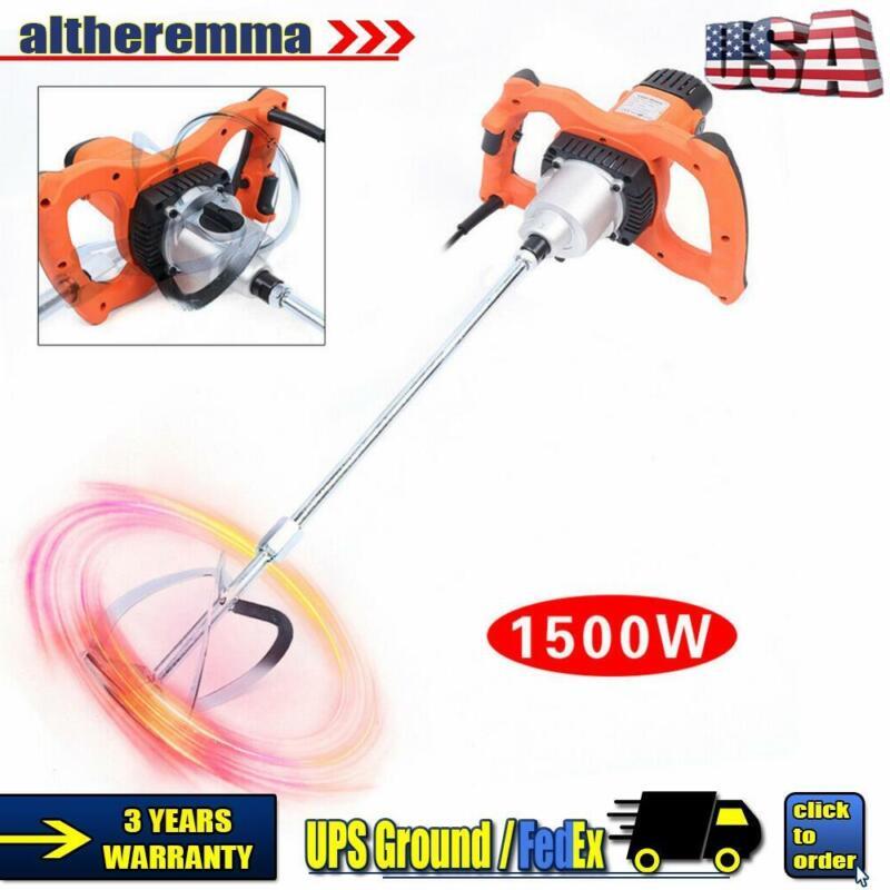 1500W Electric Putty Powder Mixer Single Rod Paint Mixer Shaker Stirring Machine