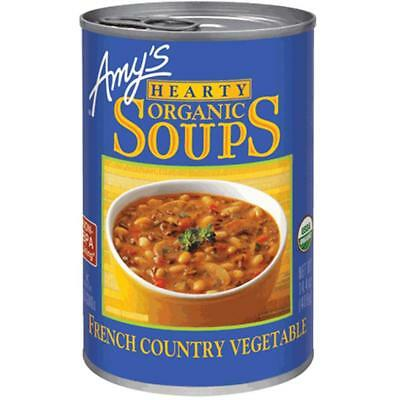 Amy's-Organic Hearty French Country Vegetable Soup, Pack of 12 ( 14.4 oz cans -