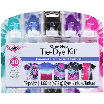 Carousel Tie Dye Craft and Activity Kit Tulip NEW tye die purple blue teal black (Tye Die Kit)