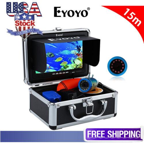 "EYOYO 7"" Fish Finder 12Pcs Infrared Led 15M Underwater Camera 1000TVL HD Camera"