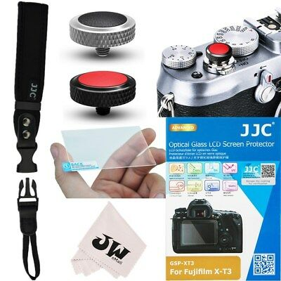 5in1 Kit Wrist Strap + 2x Soft Shutter Release Button for Fujifilm Fuji X-T3 XT3 Shutter Release Kit