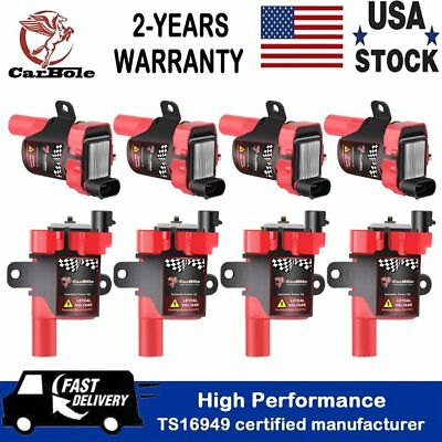 - 8 Pack Ignition Coil for Chevy Silverado 1500 2500 GMC 5.3L/6.0L/4.8L UF262 D585
