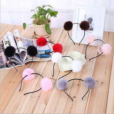 Headband Gift - Gift Girls Cute Headband Accessories Party Hairband Fur Ball Double Fluffy